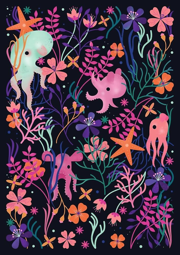 Deep Sea by Carly Watts - Artists Making Passive Income on RedBubble: Meet Carly Watts on CreatingBeautifully.com