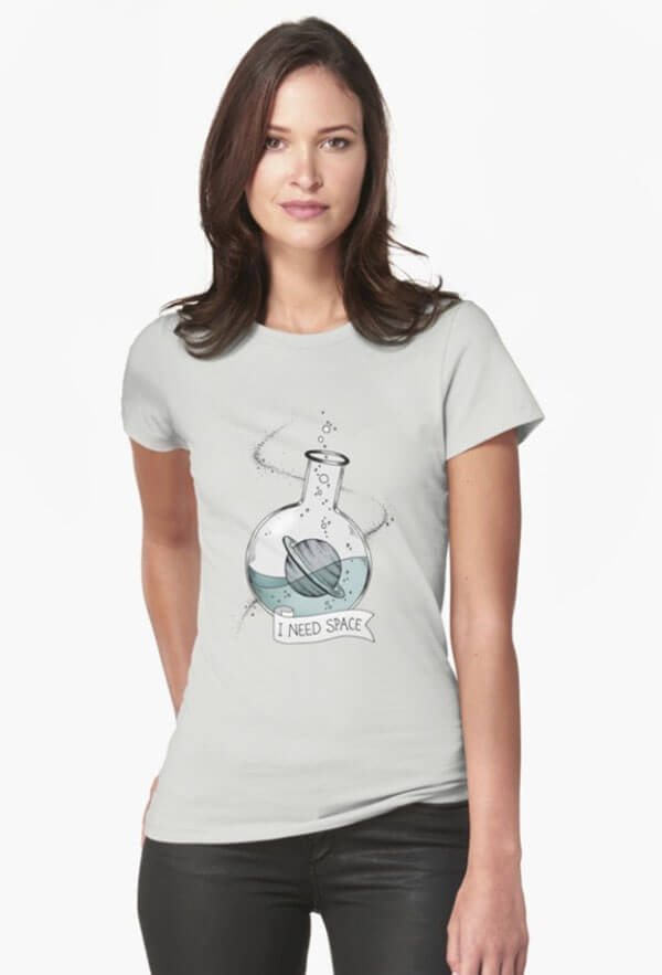 """Selling Art Passively on RedBubble: Meet Barlena. """"I Need Space"""" t-shirt by Barlena on RedBubble."""