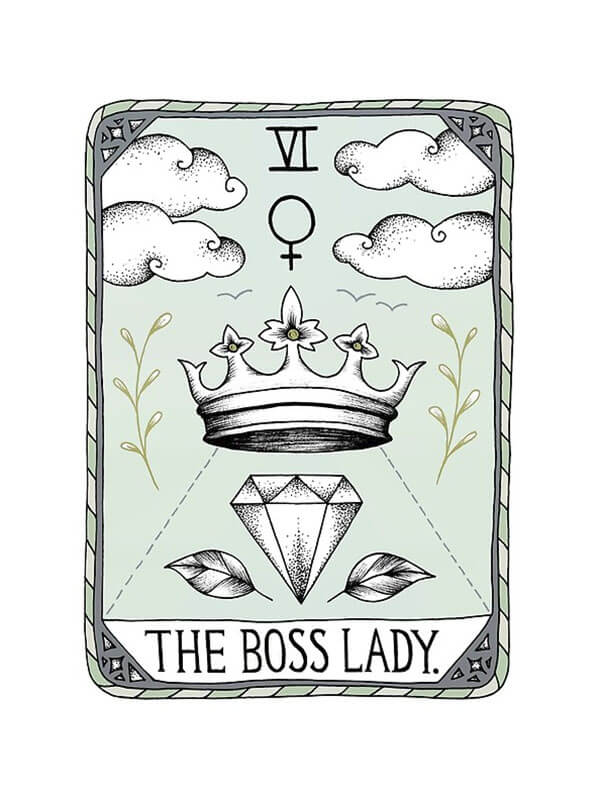 """From the article, Selling Art Passively on RedBubble: Meet Barlena. """"The Boss Lady"""" by Barlena on RedBubble."""