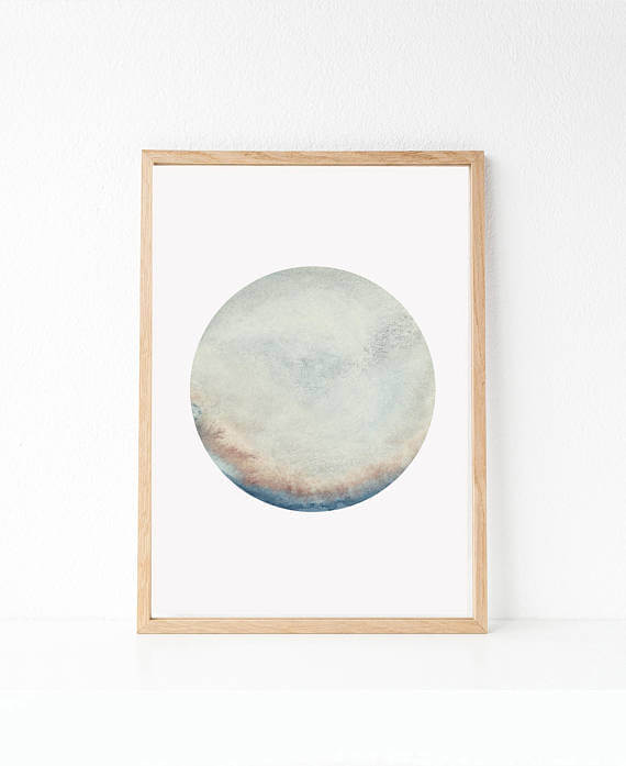 Selling Art Passively Online with Artist Basia Stryjecka: Planet Wall Art from Little Valley Studio
