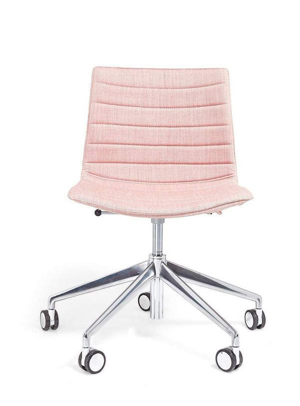 This pale pink chair is one of the cutest office supplies ever!