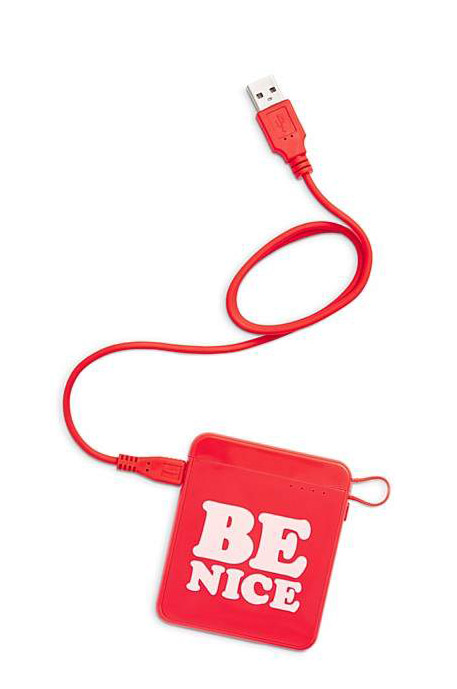 "This ""be nice"" back-up phone charger is one of the cutest office supplies ever!"