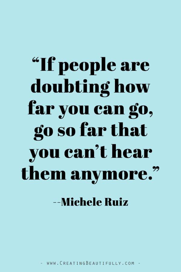 Inspiring Quotes from Powerful Women Entrepreneurs on CreatingBeautifully.com #inspiringquotes #quotesfromwomenentrepreneurs #girlbossquotes #MicheleRuiz