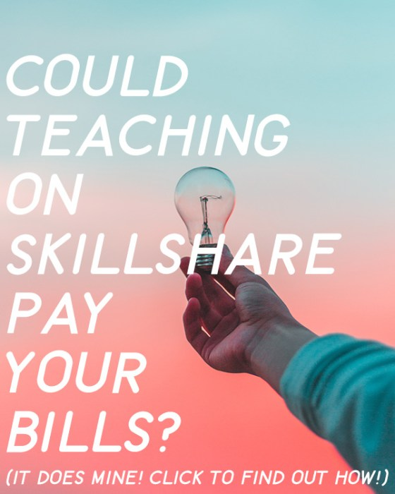 Learn how you can Make Money Teaching Online on Skillshare with short, simple classes.
