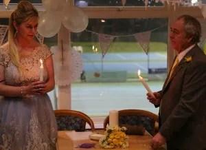 Worthing wedding unity candle celebrant Claire Bradford