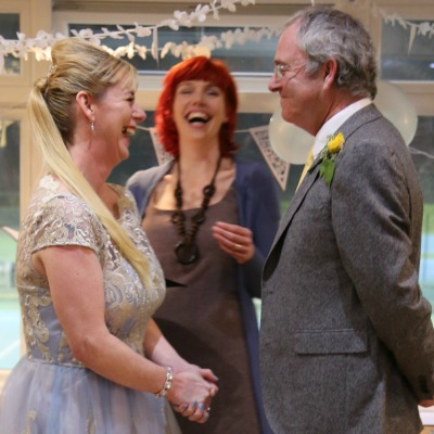 Louise and Mick's Worthing evening wedding with a twist or two!