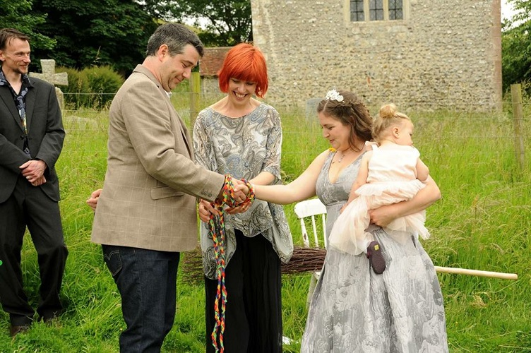 Anna and Guy's Happy, Happy Summer Solstice Handfasting