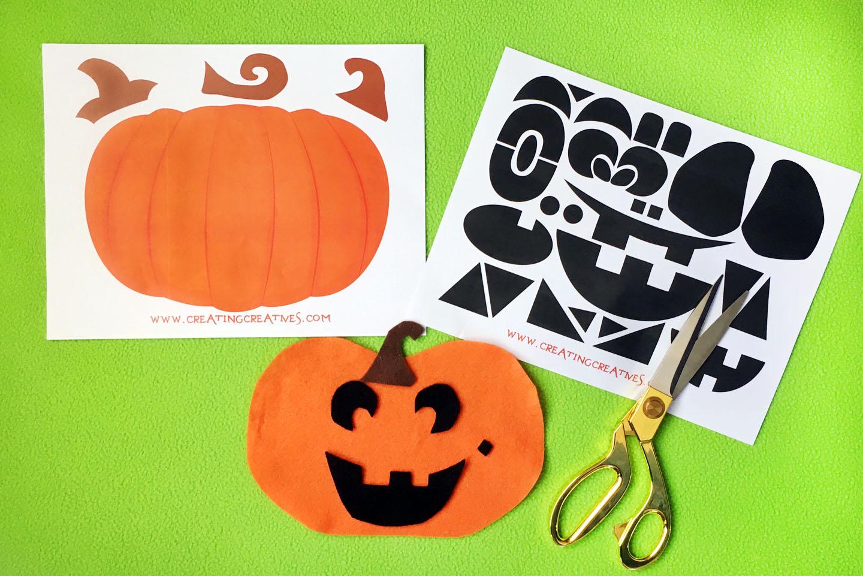 Jack O Lantern Face Board With Free Printable