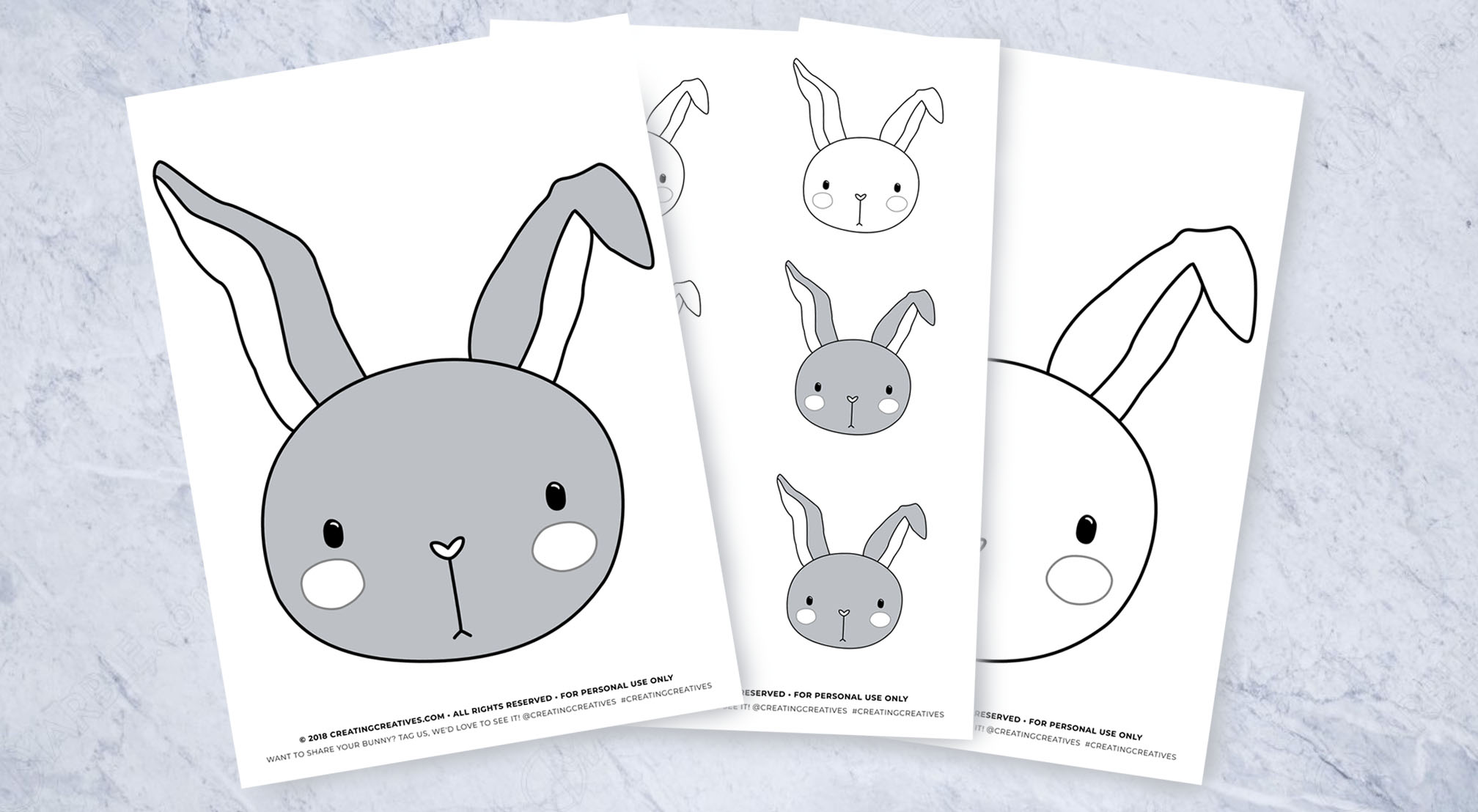 Cute Bunny Printable With Multiple Uses