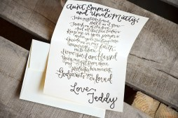 Will You Be My Godparents Personalized Black Sparkle Signature by Your New Friend Sam - Cream Cardstock with Gold Glitter Embossing 2
