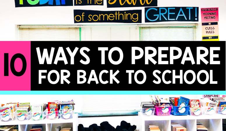Teacher Back to School Checklist
