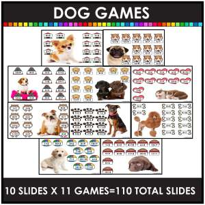 Digital hide and seem games examples of dogs picture