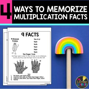multiplication fact worksheet with scissors and pencils and words that say 4 ways to memorize multiplication facts
