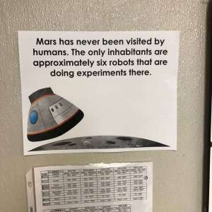 a fun fact about outer space printed on paper