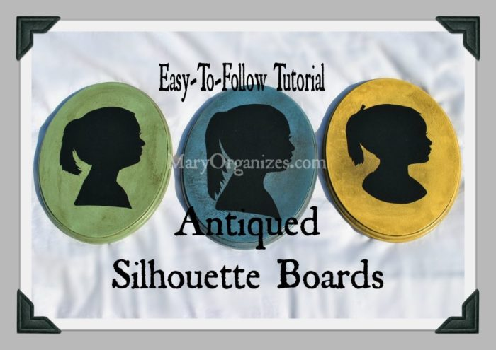 Easy Tutorial for Antiqued Silhouette Boards - super easy!!