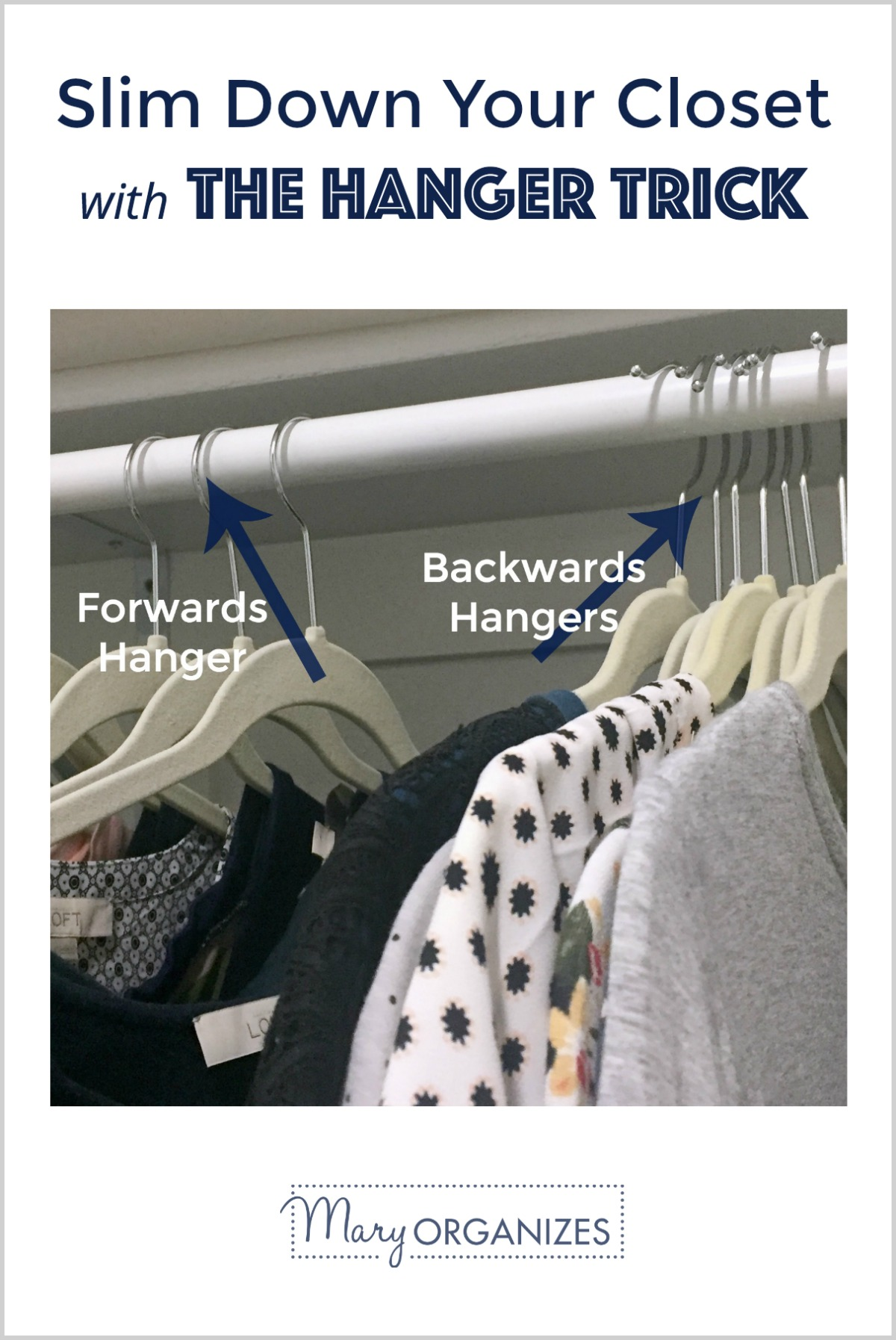 The Hanger Trick - Slim Down Your Closet Easily -v