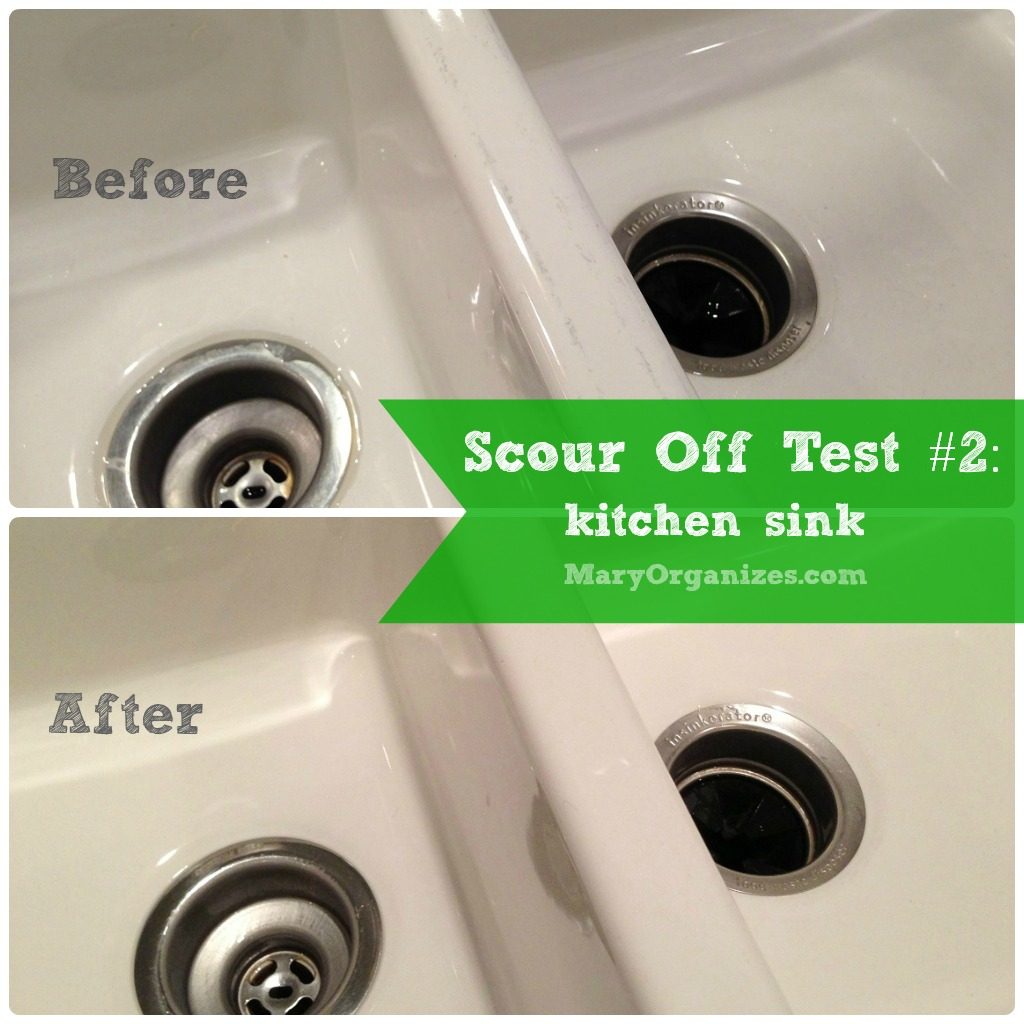 Scour Off Test #2: white sink