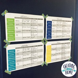 Managing Kid's Busy Schedules {FREE PRINTABLE}