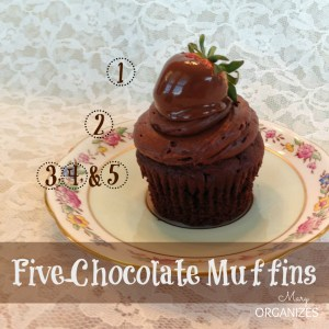 Five-Chocolate Muffins {And my photo backdrop trick!}