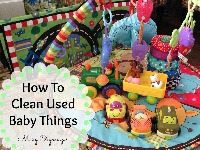 How To Clean Used Baby Things