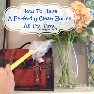 How to have a perfeclty clean house all the time or maybe not