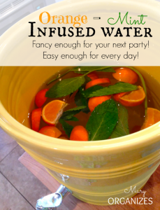Orange-Mint Infused Water Recipe
