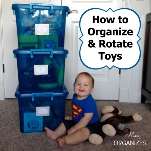 How to Organize and Rotate Toys