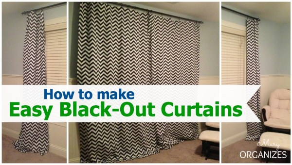 How to make Easy Blackout Curtain Panels