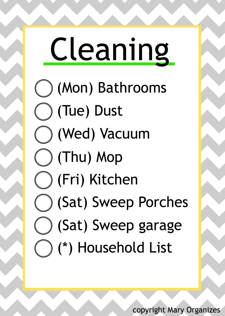 Cleaning Schedule _MO