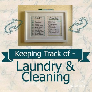 Keeping Track of Cleaning & Laundry {FREE Printables!!}