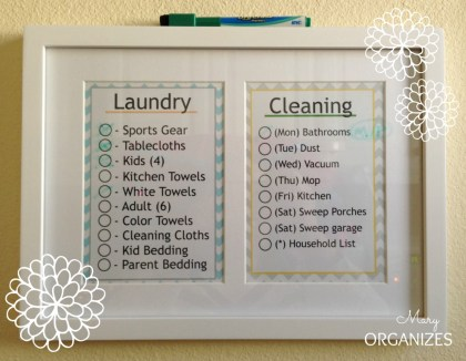 Laundry and Cleaning Schedule