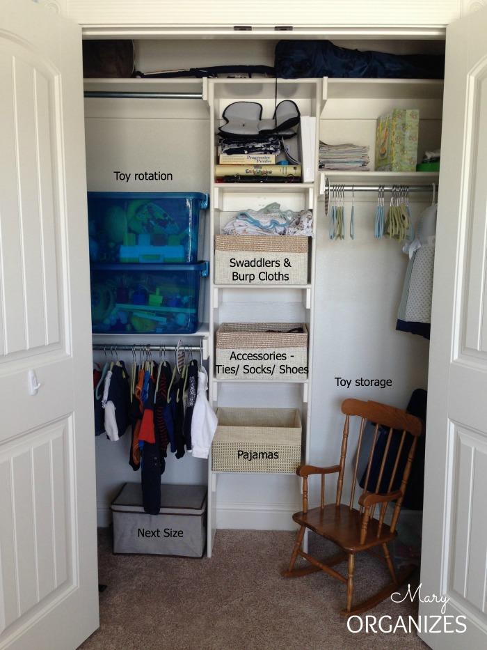 Cougars Nursery - closet view