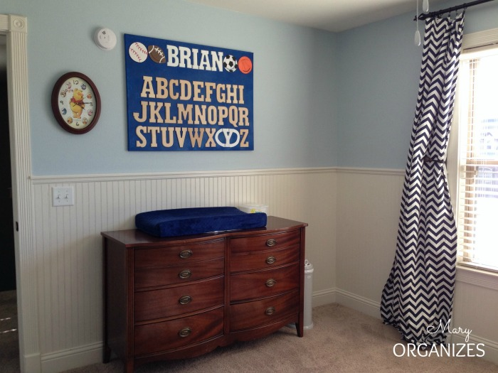 Cougars nursery - changing table view
