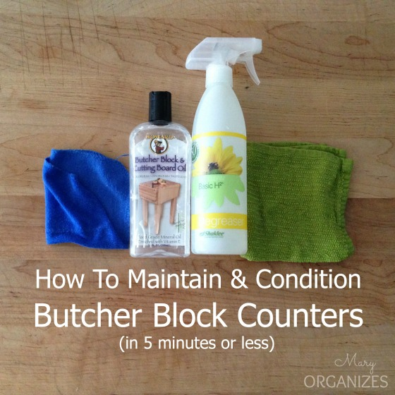 How To Maintain & Condition Butcher Block Counters (in 5 minutes or less)
