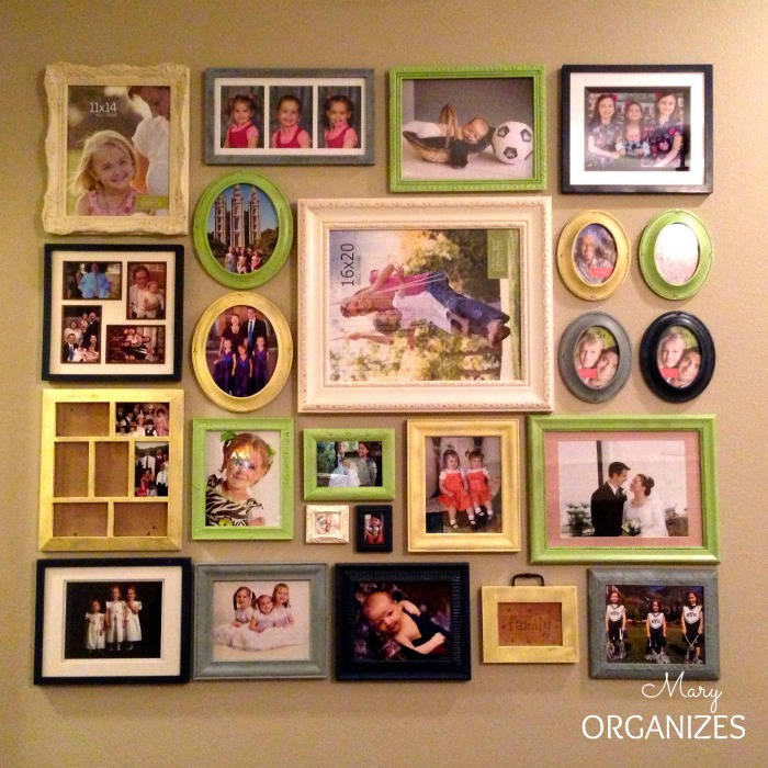 I put the frames out without filling out all the pictures ... I just needed the project completed to that point