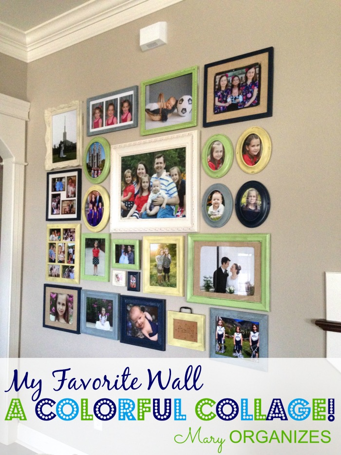 My Favorite Wall - A colorful Collage