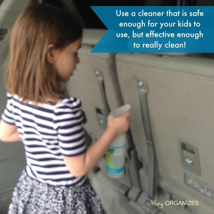 Use a safe cleaner like Shaklee