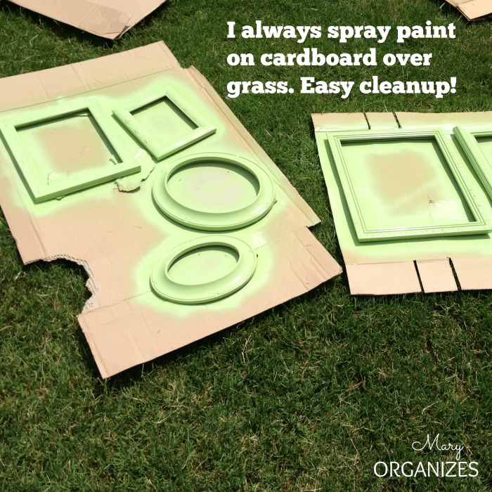 spray paint over grass - easy cleanup
