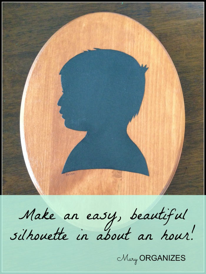 Make an easy and beautiful silhouette in about an hour