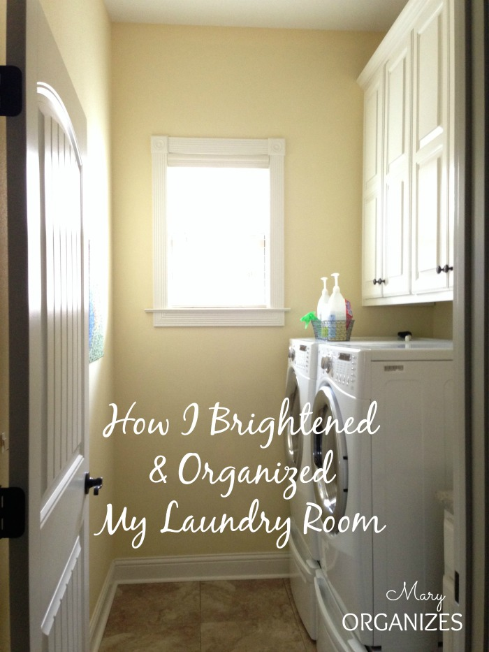 How I Brightened and Organized My Laundry Room