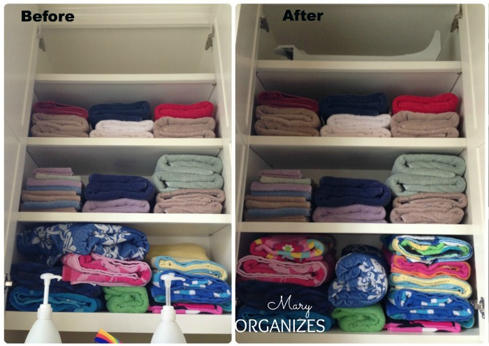 Laundry Room Update - tidy up the cabinets