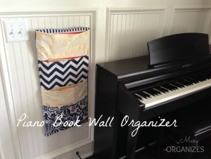 Piano Book Wall Organizer