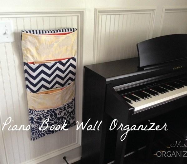 Piano Book Wall Organizer