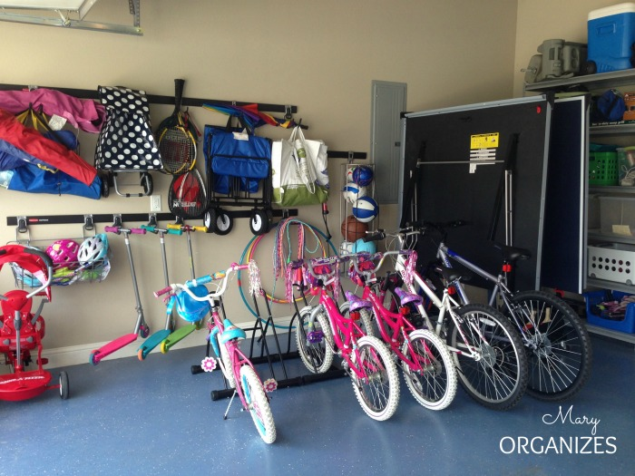 Maintain an Organized Garage - I love the bicycle stands