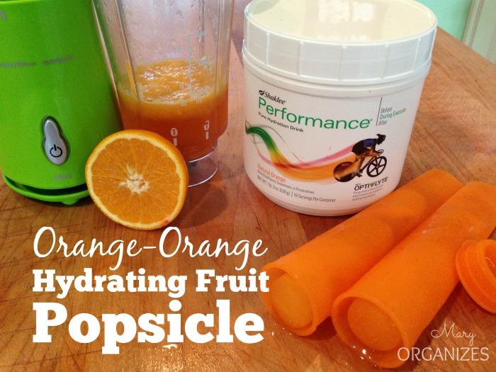 Orange-Orange Hydrating Fruit Popsicle