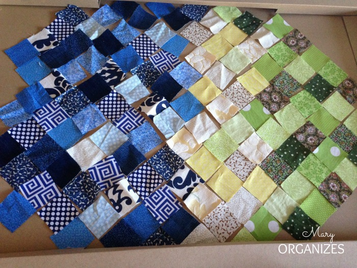 Quilted Sunrises - piecing it together