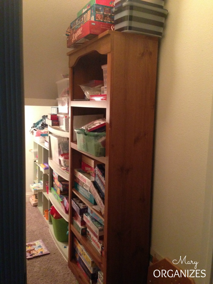 The Messy Closet under the stairs BEFORE