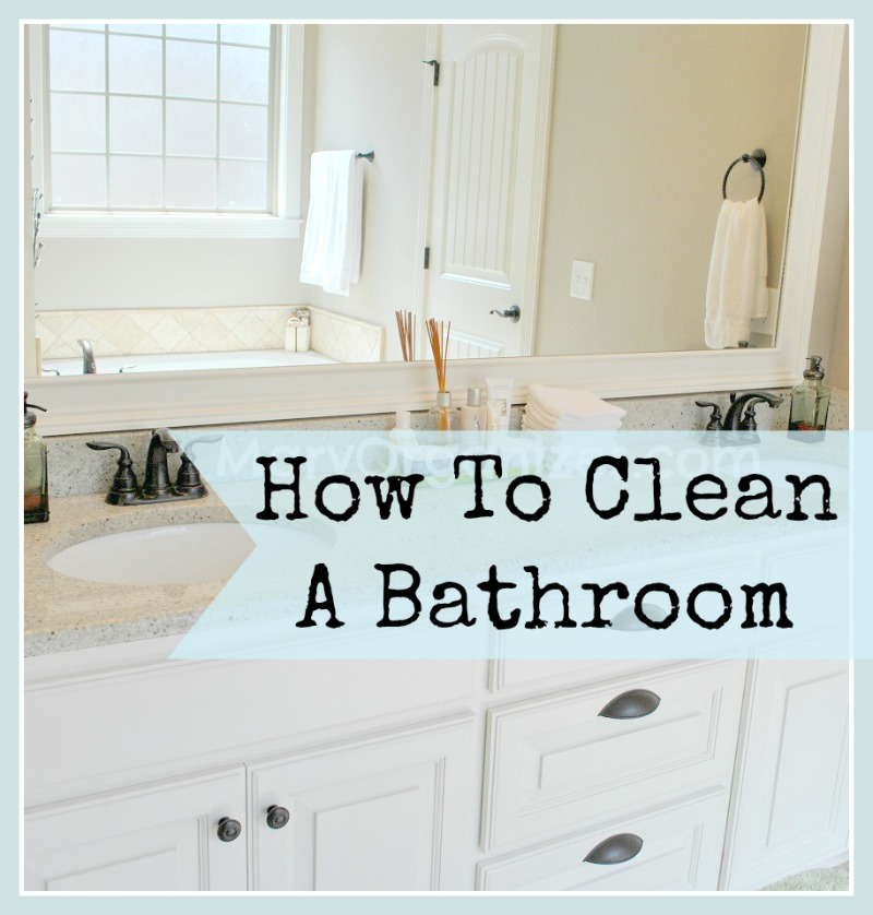 How to clean the bathroom How to clean bathtub