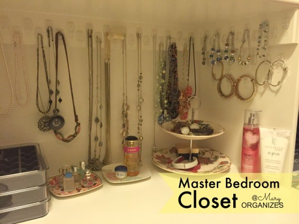 MBR Closet - jewelry organizing