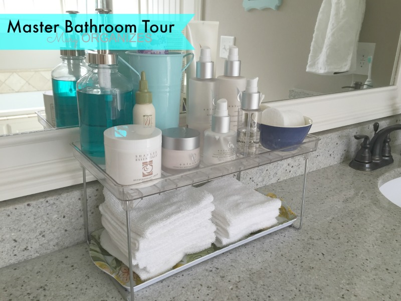 Mary ORGANIZES Master Bathroom Tour - counter products